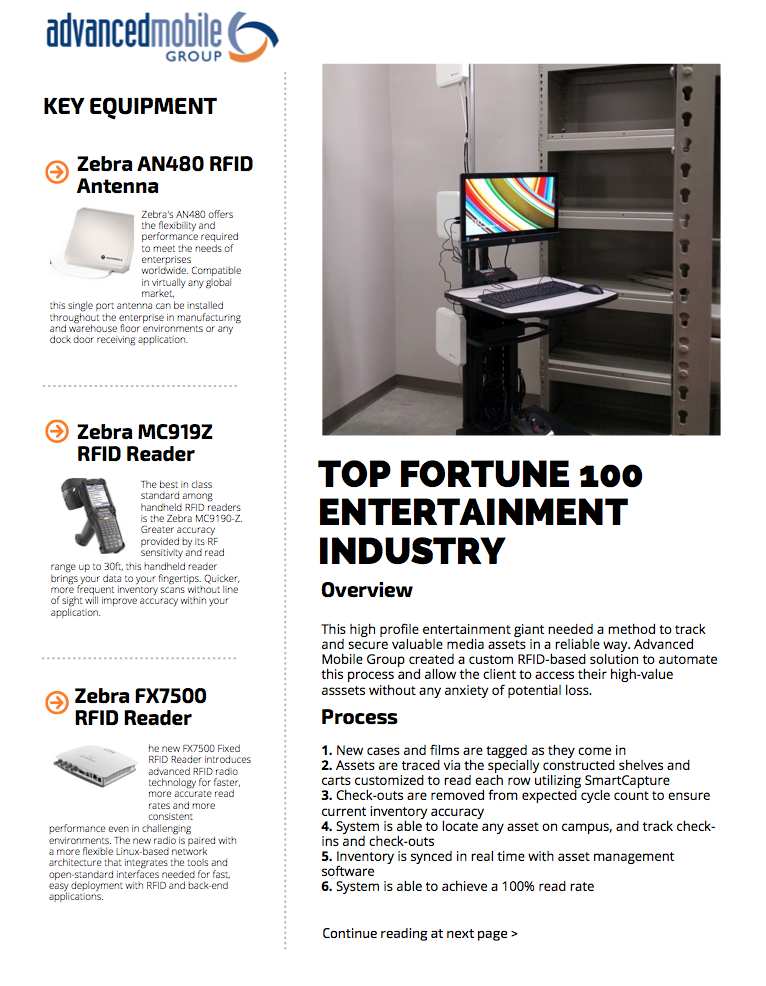 Top Fortune 100 Entertainment Industry Asset Tracking Solution